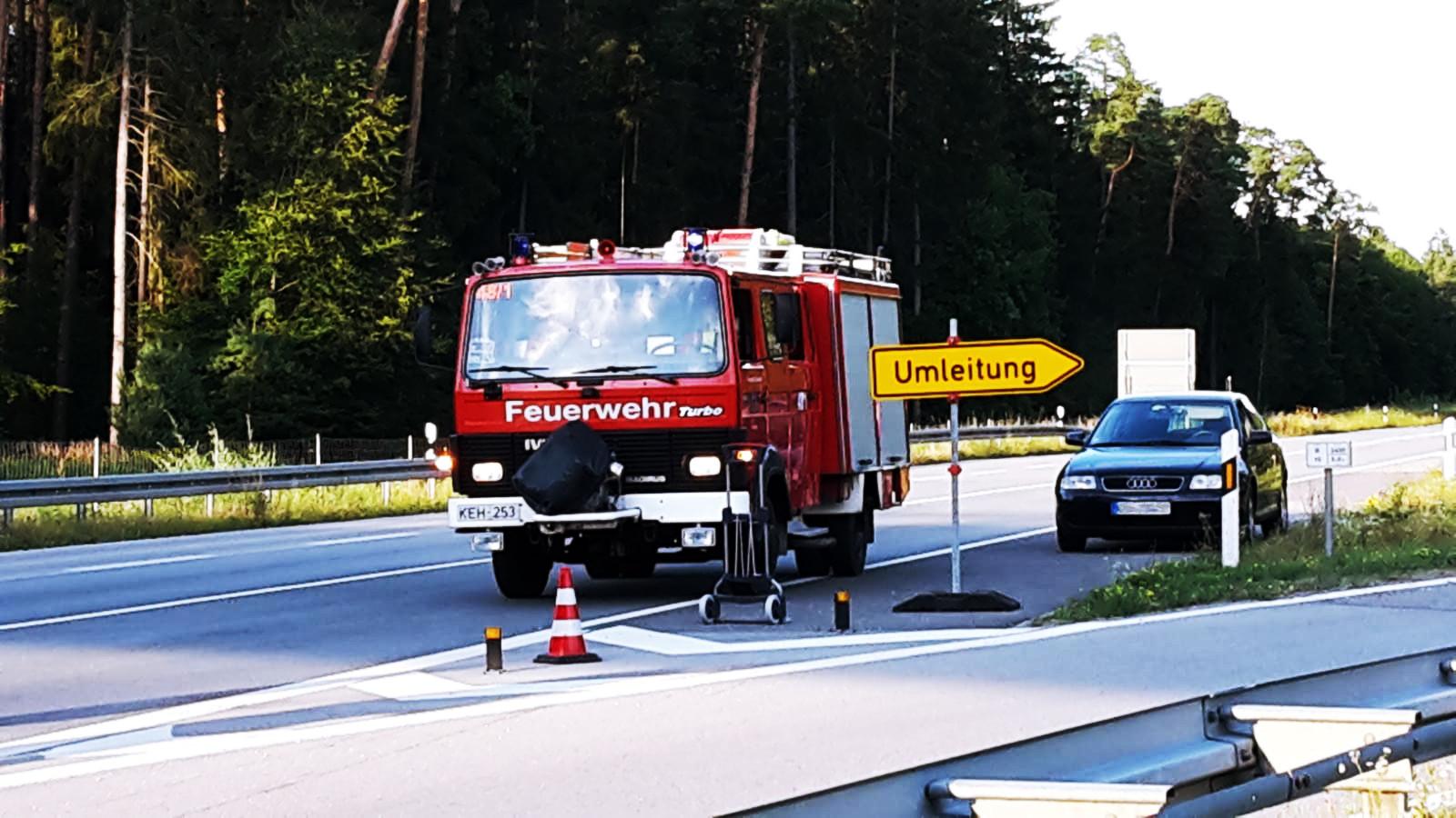 Schwerer Unfall auf der B16